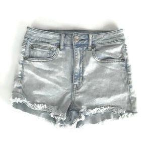 American Eagle Womens Shorts Size 2 Super Hi Rise